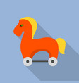 trojan horse icon flat style vector image vector image