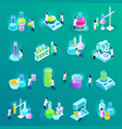 vaccines development isometric icons vector image