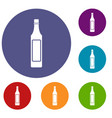 vinegar bottle icons set vector image vector image