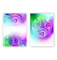 watercolor design with abstract feather vector image