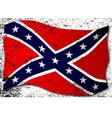 waving confederate flag vector image