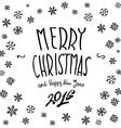 We wish You a Merry Christmas - calligraphy vector image