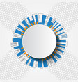 white abstract futuristic technology circle vector image vector image