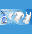 white cleaner brand concept banner realistic vector image
