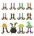 witches legs flat isolated vector image vector image