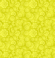 Yellow seamless floral pattern background vector image vector image