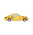 yellow sport car from side view - fast speed vector image