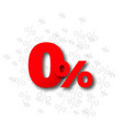 zero percent percentage offer vector image