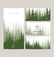 Business cards design set of green forest and vector image
