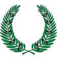 olive wreath - symbol of victory and achievement vector image