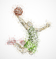 Abstract basketball player2 vector | Price: 1 Credit (USD $1)