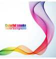 Abstract colorful smoke background vector image vector image