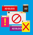 ad block popup symbol color promotion vector image vector image