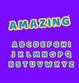amazing typeface font alphabet 3d vector image vector image