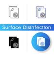 antibacterial wipes icon vector image vector image