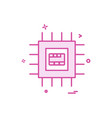 artificial ic intelligence icon design vector image