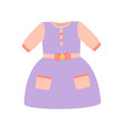 baby clothes girl dress poster vector image