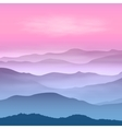 Background with mountains in the fog vector image vector image
