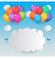 balloons sky background vector image