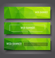 banner design with green abstract polygonal vector image