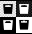 bathroom scales icon isolated on black white and vector image vector image