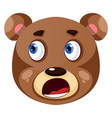bear is feeling worried on white background vector image vector image