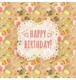Birthday Party Celebration Background with emblem vector image vector image