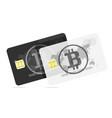 bitcoin black and white bank card vector image