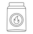 box of matches icon outline style vector image