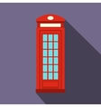British red phone booth icon flat style vector image vector image