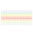 brush shape halftone spectrum effect vector image