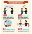 Business infographic set vector image