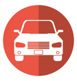 car sedan vehicle transport icon shadow vector image vector image