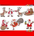 cartoon santa claus christmas holidays characters vector image