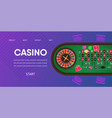 casino gambling roulette green table vector image vector image