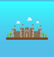 castle tower architecture in flat style design vector image vector image