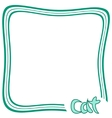 Cat Frame vector image vector image