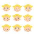 caucasian girl set vector image vector image