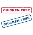 Chicken Free Rubber Stamps vector image vector image