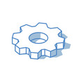 cogwheel icon isolated on white background vector image vector image