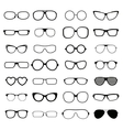 Collection various styles of fashion glasses solid vector image vector image
