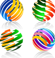 Colorful decorative elements for the logo vector image