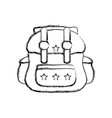 figure backpack travel style to expedition tourist vector image vector image