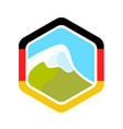 flag of germany and alpine mountain vector image vector image