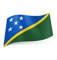 Flags icon solomon islands 01 vector image vector image