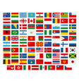 flags world flags the vector image