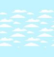 flat seamless texture of sky with clouds element vector image