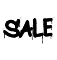 graffiti sale word sprayed isolated on white vector image vector image