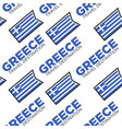 greece travel destination greek national flag vector image vector image
