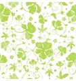 Green Swirly Clover Seamless Pattern vector image